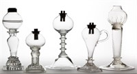 Thomas Cains and other rare whale oil lamps
