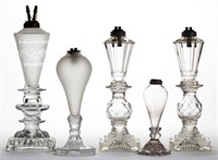 Fine collection of whale oil lighting
