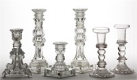Selection of lacy-period candlesticks