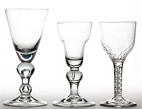 Goblets from a good selection of 18th century English and other stemware