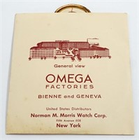 Omega Watch Co paper advertising circa 1936