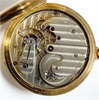 Albert H Potter, lever chronometer serial #31, 18K