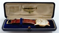 Longines Flyback Chronograph, 18K gold case