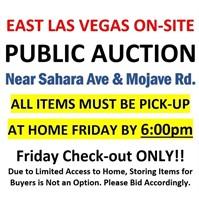 Sahara & Mojave Estate On-site Online Auction 9/24 @6pm