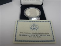 2005 - P US Chief Justice $1 Silver Proof Set