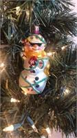 """Radko """"Cool Yule Snowman"""" Ornament"""
