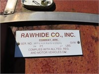 1993 16ft Rawhide Bumper hitch livestock trailer