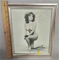 Pin-Up Girl Blaze Starr Autographed Nude Photo