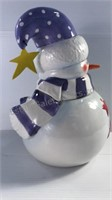 Charlie's Snowmen Handpainted Ceramic Cookie Jar
