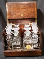 Tantalus Bar Set / Decanter Set with key