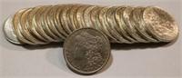 1879-1900 Roll Better Grade Morgan Silver Dollars