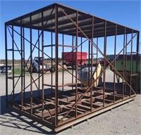 """Metal building skeleton. Dimensions: 100""""W x"""