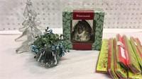 Pfaltzgraff Bell Ornament, Mistletoe and More