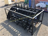 72'' SKID STEER ROOT RAKE GRAPPLE W/(2) HYDRAULIC