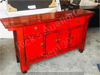 red oriental style side board