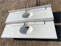 2pc Cultured Marble Vanity Tops