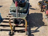 Pallet of Carts, Helmets, Motorcycle Jack Stand