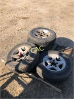 4pc Load Star-Karrier Trailer tires on rims