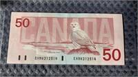 1988 Bird Series Fifty Dollar Bill PRE EHR