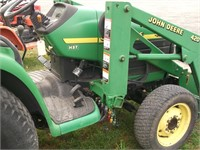 JD 4300 Diesel Tractor 4 WD with JD 420 LDR PS