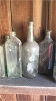 Old bottles and metal cans