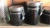 Canisters with bale top lids