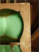 Primative corner shelf