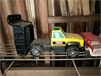 Tonka dump and fire trucks