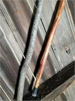 Walking sticks and fire starter bark