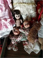 Porcelain and other dolls