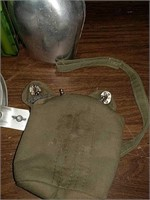 Scout mess kit and metal canteen with pouch