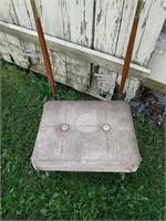 brass frame, vinyl seat entleman's Butler