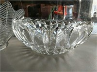 Leaded Glass bowls and Glass basket