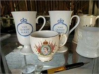 RMS Queen Mary and Elizabeth mugs and others