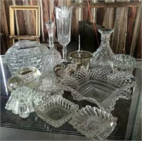 Clear glass decor pieces