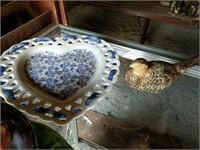 Ash tray and decorative plates