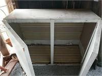 Two door metal cabinet
