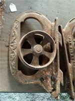 Cast iron Barn door wheels