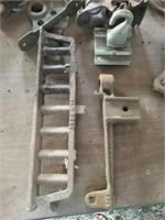 Various steel pullys and hooks