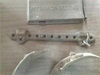 McCormick-Deering cover plate, plow parts