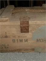 Wooden B1MM mortar TNT box
