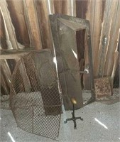 Iron damper and other fireplace tools