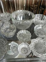 Clear glass pieces