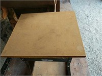 Iron Horse Wood top metal base work table