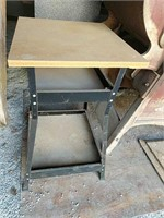 Iron Horse Wood top metal base work table