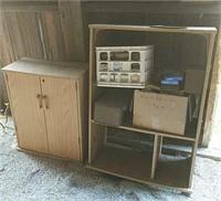 Pressed board cabinets