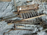 Fireplace grate and other metal tools
