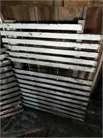 Thin slat white pallets