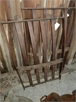 Metal fire grates, griddle and dampers