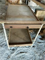 Salton Heated top serving cart;